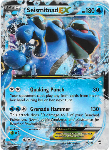 Seismitoad EX Pokemon card